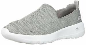 Skechers Women's Go Walk Joy-15611 Wide Sneaker, Gray/White, Size 8.5 LkSR