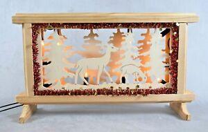 Beleuchtete Winterszene Lichterbogen Holz stimmungsvoller Lichtschmuck Deko