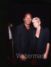 35mm photo slide O.J. Simpson and Nicole Brown Simpson  #6 1987 Los Angeles CA