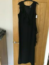 Ladies Black Connected Apparel Maxi Evening Dress Size UK 12 Special Occasion