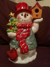 "Christopher Radko 13"" Chirpy And Chilly Cookie Jar ( Snowman)"