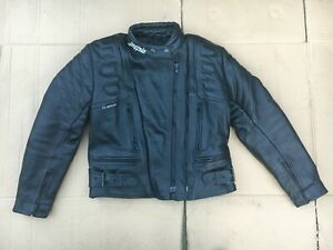 """BUFFALO Ladies Leather Motorcycle Jacket UK 10 to 12 = 34"""" to 36"""" chest  (C38)"""