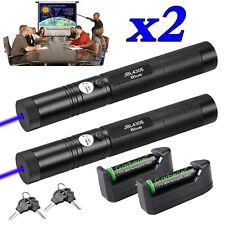 2sets 990miles Blue Purple Laser Pointer Pen 405nm 1mw Visible Beam Lazer Light