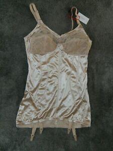 Vintage Nylon Corselet Girdle Corselette 4 Metal Suspenders Magisculpt 42 B