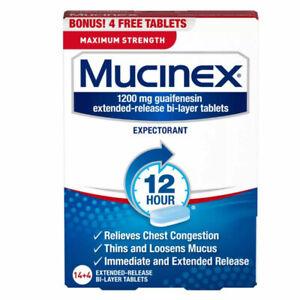 Mucinex 1200 mg Guaifenesin Max Strength 12-Hour Tablets - 18ct