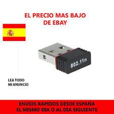 Mini antena  Wifi USB 2.0 adaptador Negro 150Mbps ultra pequeño 802.11n