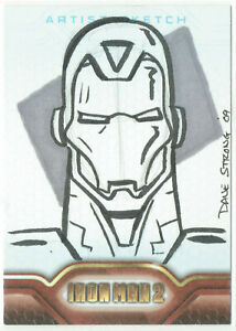 Iron Man 2 Movie Upper Deck 2010 Sketch Card 1/1 Artist Dave Strong (50)