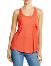 NWT FREE PEOPLE Hot Pocket Tank Top in Fire - M
