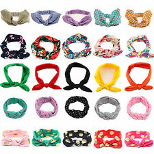 Girls Kids Baby Turban Knot Bow Headband Hair Band Headwear Head Wrap Accessory