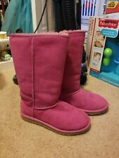 Youth Ugg Boots pink girls size 6 women 8