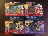 Transformers G1 Retro Headmaster Mindwipe Hardhead Chromedome Brainstorm Set