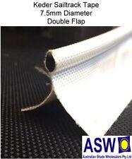 5m Length KEDER Sail Track Tape WHITE Sew On Fabric Edge Sailtrack Shade Cloth