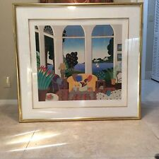 Thomas McKnight Large Piece Centre Island Framed Ltd Edt HC 34/40 Signed $3000