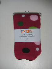 Gymboree Footless Tights  Size  5 7  Girls Deep Pink Multi Color Dots New NIP
