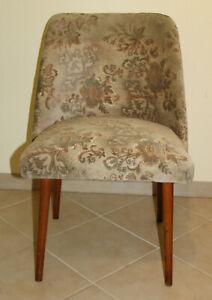 4010 Alter Retro Sessel Vintage Stuhl Cocktailsessel Veloursstoff Clubsessel