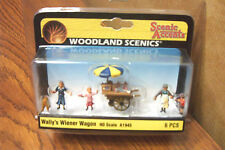 WOODLAND SCENICS WALLY'S WEINER WAGON HO SCALE FIGURES