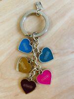 Coach Hearts Keyring Key Fob Keychain Charm New