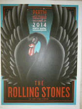 Rolling Stones lithograph poster perth black swan 14 on FireTour LITHO australia