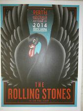 Rolling Stones lithograph poster perth black swan 14 on FireTour LITHO australia