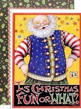 Mary Engelbreit-Is Christmas Fun Or What?-Sunrise Santa Vintage Christmas Card