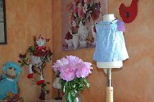 blouse neuve cyrillus liberty 6 mois petites fleurs dans le bleu blanc petit col