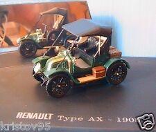 RENAULT TYPE AX 1908 VERT 1/43 UNIVERSAL HOBBIES # 77 11 425 835 CAR  die cast