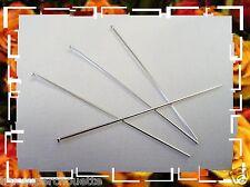 LOT DE 4 TIGES TÊTE PLAT* 50 mm. Fil: 0,80  EN ARGENT MASSIF 925 * .Réf: SPTES80