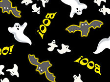 Quilting Treasures Spooky Eve by Pamela Bishop 22640 J Black Bats.. FREE US SHIP