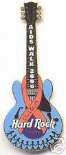 Hard Rock Cafe ST. LOUIS 2000 AIDS WALK PIN Orange Ribbon on Guitar NEW HRC Bag!