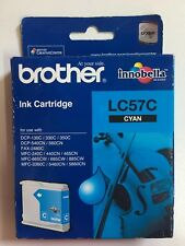Genuine Brother LC57C PRINTER INK CARTRIDGE CYAN (Past used by date)