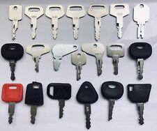 20pc Heavy Equipment Key Set Construction Ignition Keys CAT Case  Komatsu Bobcat