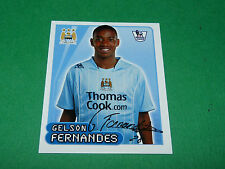 N°351 FERNANDES MANCHESTER CITY MERLIN PREMIER LEAGUE FOOTBALL 2007-2008 PANINI