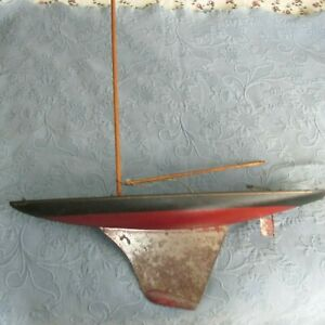 Vintage Seaworthy Boats Toy Model Wooden Pond Sail Boat by Chester A. Rimmer