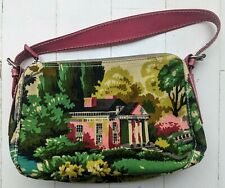 PAUL SMITH Small Handbag FLORAL / COUNTRYHOUSE  PATTERN Leather & Canvas