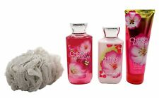 Cherry Blossom Set - Shower Gel, Lotion, Body Cream with Loofah