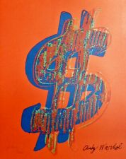 ANDY WARHOL $ DOLLAR SIGN RED SIGNED & HAND NUMBERED 2704/3000 LITHOGRAPH