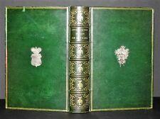 TRES BELLE RELIURE PLEIN MAROQUIN VERT GRAIN LONG MEDAILLONS EN ARGENT 1862