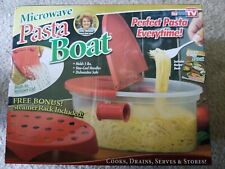 New As Seen On TV Microwave Pasta Boat With Steamer Rack