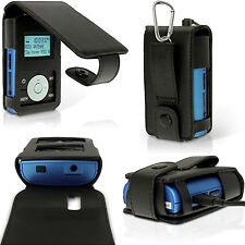 Negro PU Cuero Funda Carcasa para Radio Portatil Grundig Micro 75 DAB+ Flip Case