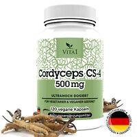 Cordyceps Sinensis 120 Kapseln CS-4 Extrakt Raupenpilz hochdosiert 500mg