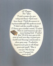 PRAYER FOR YOU Gods Loving Care CHRISTIAN FRIENDS Happiness verses poems plaques