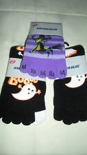 6 LOT of FUN Halloween Socks Incl 3 Toe Pair from ANCHOR BLUE Socks Ghost Witch