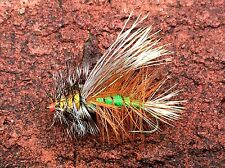 Fly Fishing Flies (Bass Bream Trout Salmon Perch Carp) Stimulator Olive (x 6)