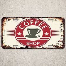 LP0198 Vintage Coffee Shop Sign Rustic Auto License Plate Restaurant Decor
