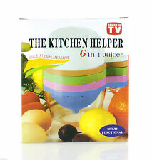 As Seen On TV The Kitchen Helper 6 In 1 Juicer Set.NEW