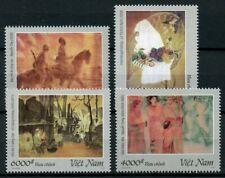 Vietnam 2019 MNH Silk Paintings 4v Set Art Stamps