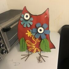 Metal Art Home Decor Quirky Unique Robot Owl Like Mystical Creature