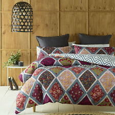 Oakden Quilted Duvet Doona Quilt Cover Set Queen King Bed Size by Phase 2