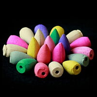 70 x Aromatherapy Cones Natural Fragrance and Holders Incense Backflow Back Flow