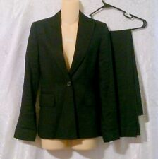Banana Republic Black Linen Blend Women's Harrison Pant Suit Size 4
